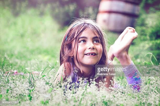 Little girl toothless