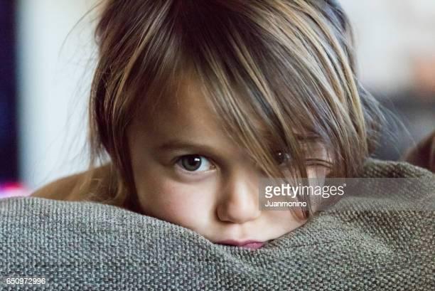 Little girl very upset