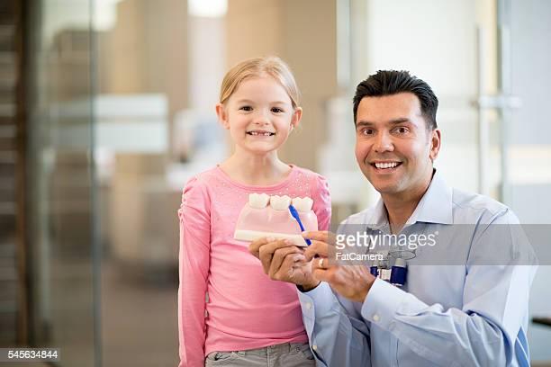 Little Girl Visiting the Dentist