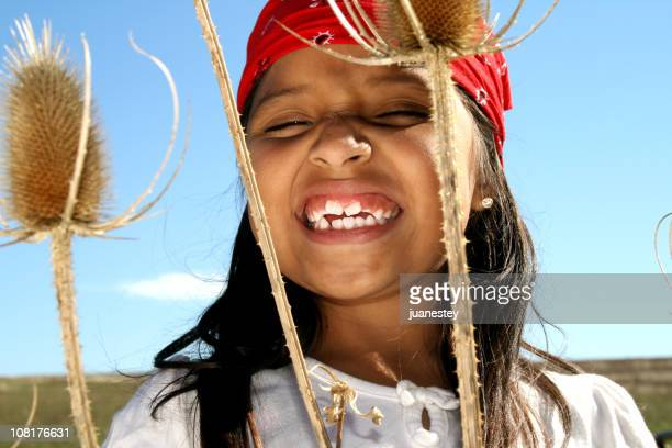 Little Girl Wearing Hippie Clothing