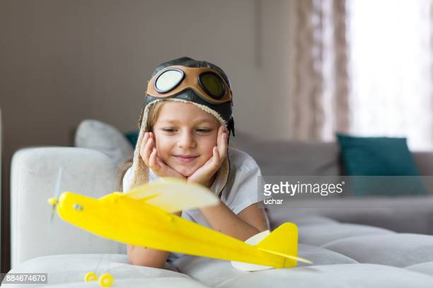 Little girl With Airplane-Freedom To Dream