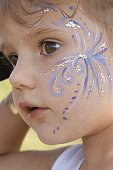 Little Girl With Face Painting
