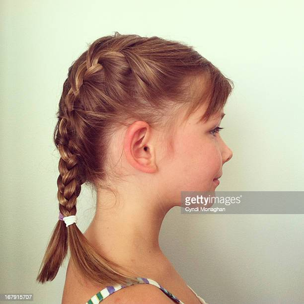 Little girl with French braids