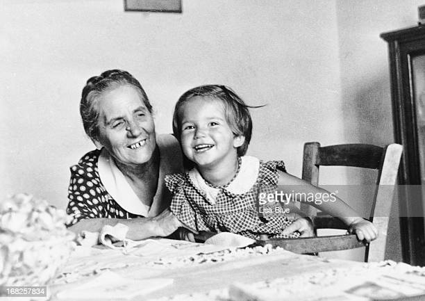 Little Girl with her Grandmother in 1949