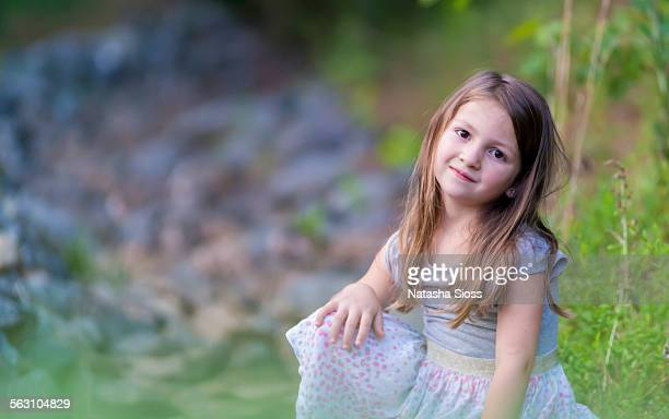 Little girl with long brown hair
