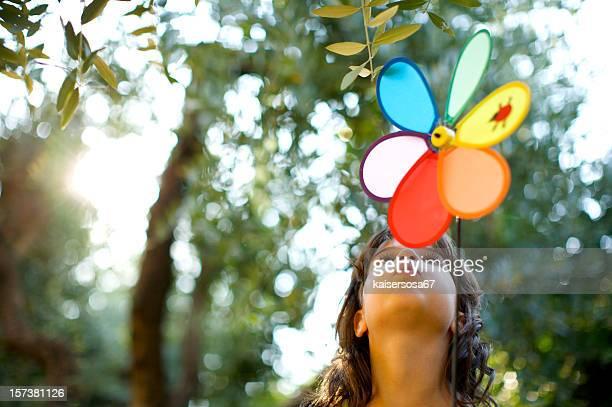 Bambina con tappezzi Mulino a vento