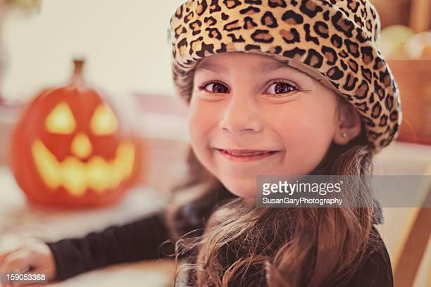 Little Girl with Pumpkin Portrait