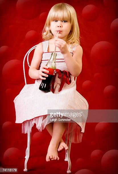 Little girl with soda (Digital Enhancement)