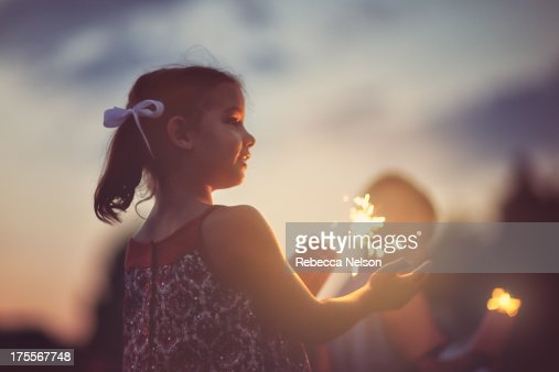 Little girl with sparkler
