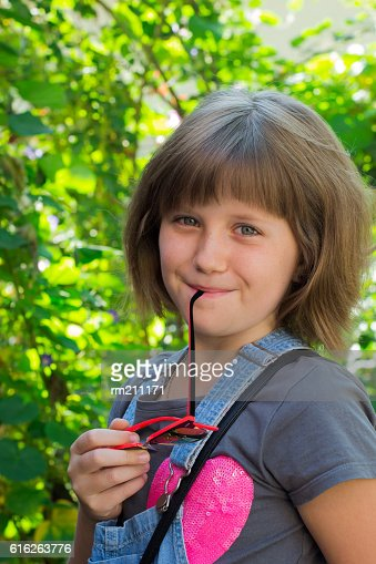 little girl with sunglasses : Stock Photo