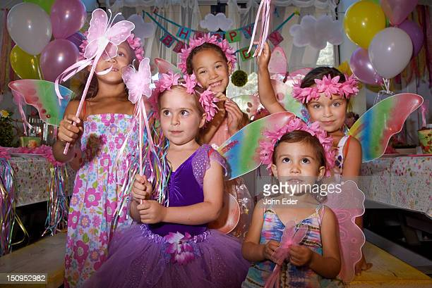 Little girls at a birthday party