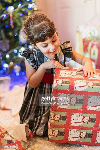 Little Girl's Christmas Anticipation