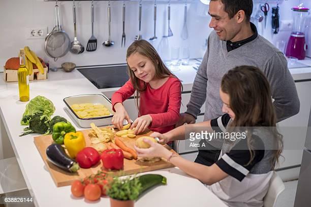 Little girls cooking