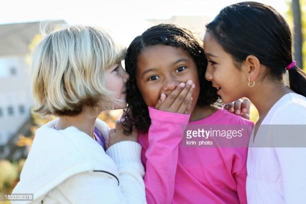 Little girls giggling.