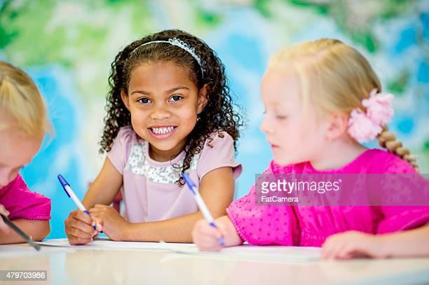 Little Girls in Pre-School