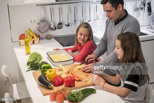 Little girls in the kitchen