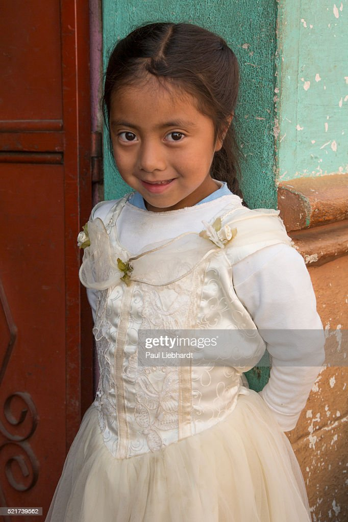 Little Guatemalan Girl with an Engaging Smile.