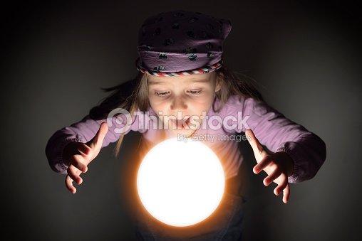 Little Gypsy Fortune Teller Stock Photo - Thinkstock