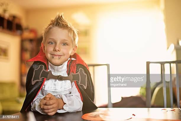 Little halloween vampire boy