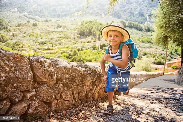 Little hiker running