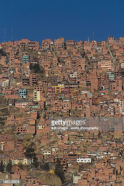little houses in the slopes of La Paz
