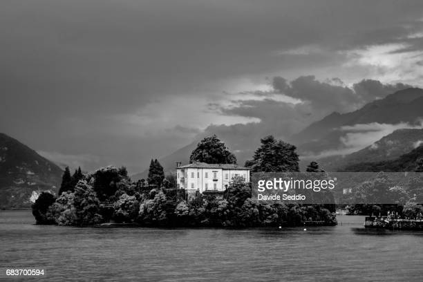 Verbania, Italy - August, 2014: Little island of St John (Isolino di San Giovanni)