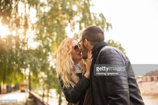 French girl kissing shemale