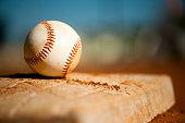 Little League Baseball on First Base Close Up