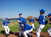 Little League Team Celebrating