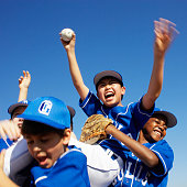 Little League Team Celebrating