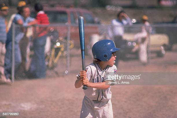 Little Leaguer Using Aluminum Bat