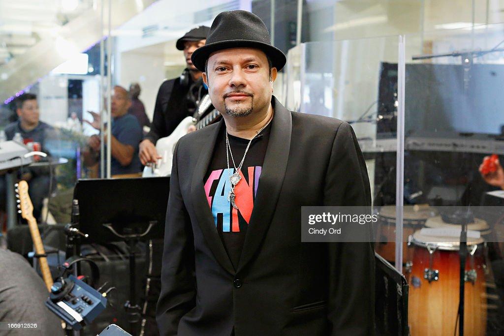 DJ 'Little' Louie Vega performs at the SiriusXM Studios on April 18, 2013 in New York City.