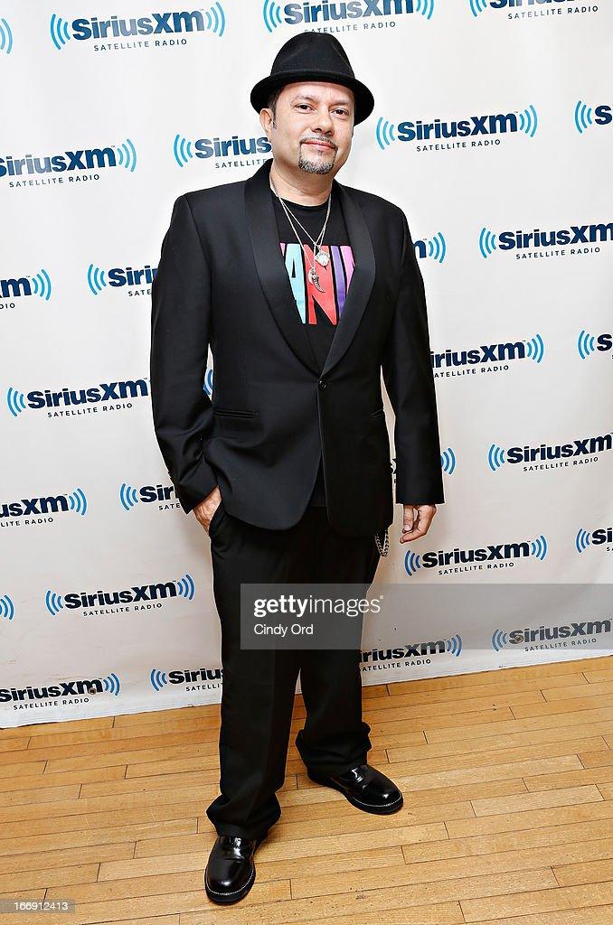 DJ 'Little' Louie Vega visits the SiriusXM Studios on April 18, 2013 in New York City.