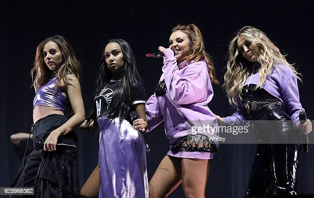 Little Mix perform on stage during Free Radio Live 2016 at the Genting Arena on November 26 2016 in Birmingham United Kingdom