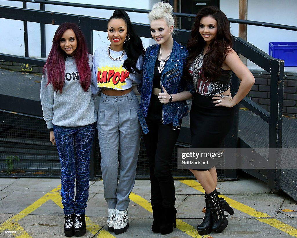 Little Mix seen at the ITV Studios on November 23, 2012 in London, England.