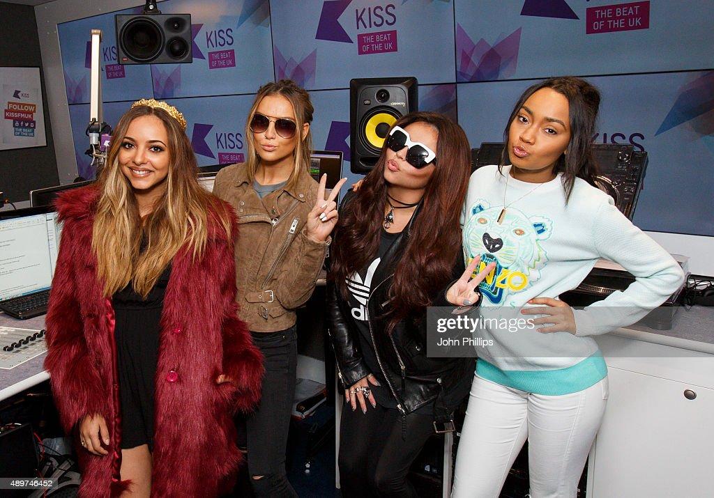 Little Mix visits Kiss FM Studio's on September 24 2015 in London England