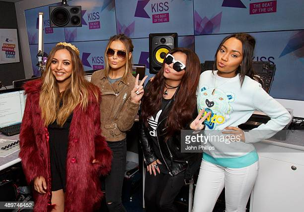 Little Mix visits Kiss FM Studio's on September 24 2015 in London England