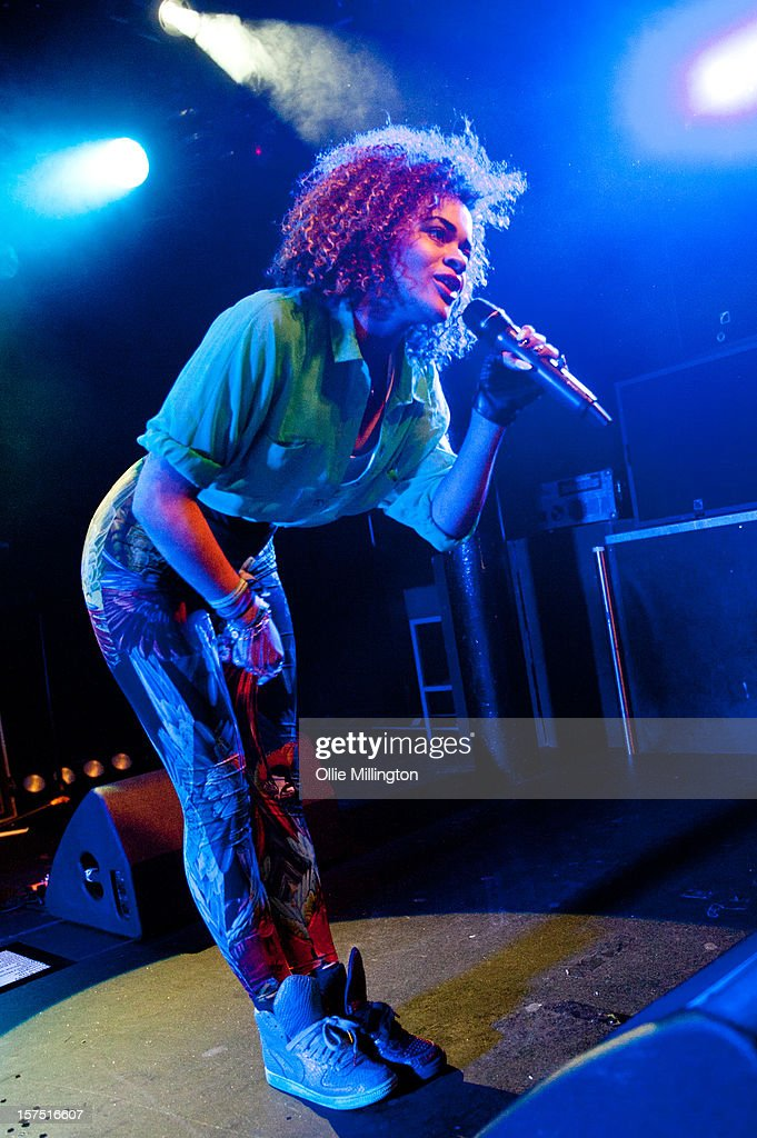 Little Nikki Performs onstage supporting Rizzle Kicks at Rock City on December 3, 2012 in Nottingham, England.