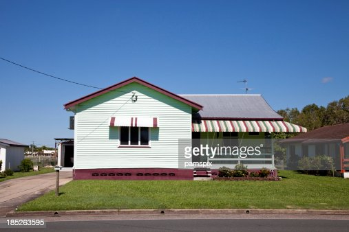 Little Old House with clear blue sky