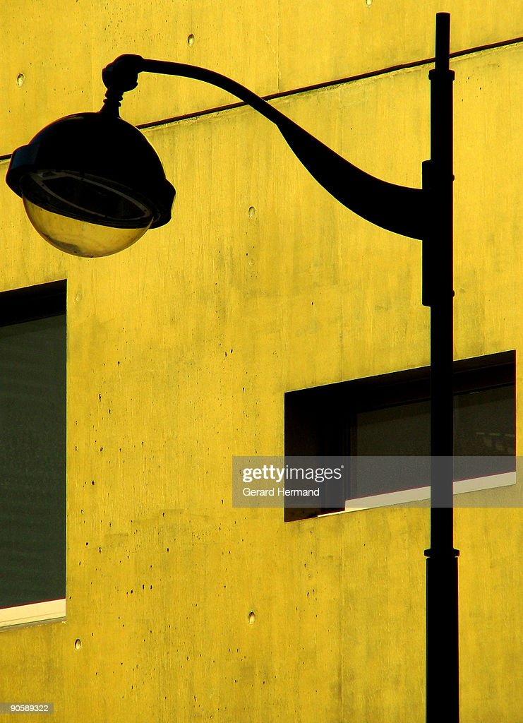 Little patch of yellow wall : Stock Photo