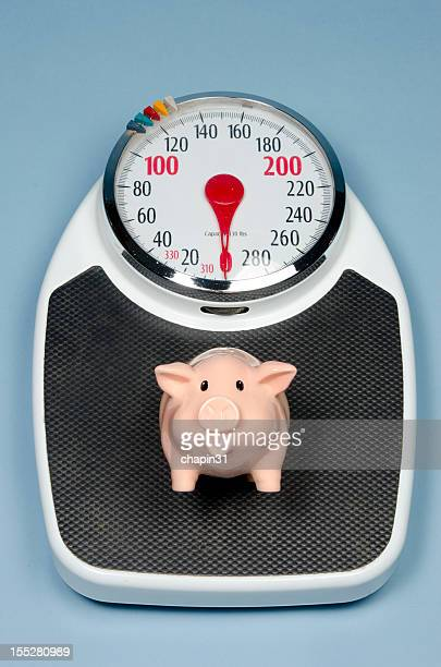 Little Pig on Bathroom Scale