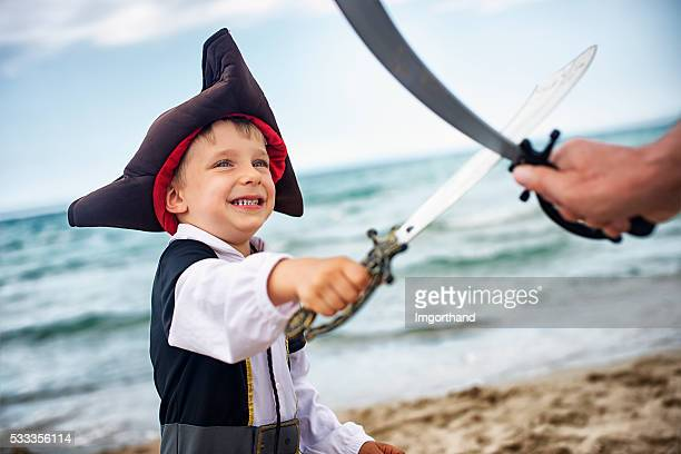 Little pirate enjoying the duel