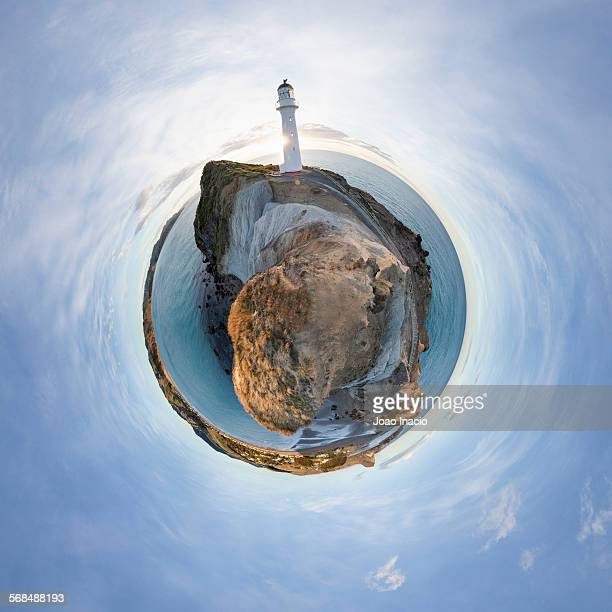 Little planet effect - Castlepoint lighthouse