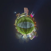 Little planet Hannover. Stereographic panorama projection