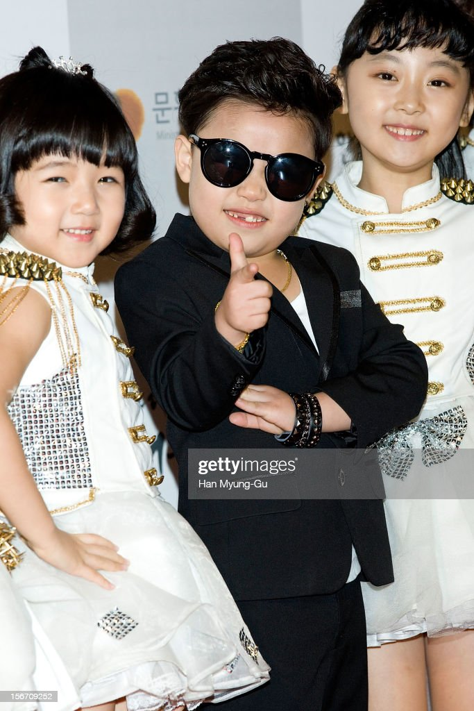 'Little Psy' named child star Hwang Min-Woo attends during the 2012 Korea Popular Culture Art Awards at Olympic Hall on November 19, 2012 in Seoul, South Korea.