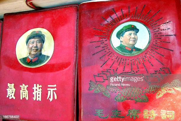 Little Red Book with an effigy of Mao