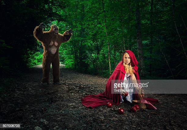 Little Red Riding Hood in den Wald verloren