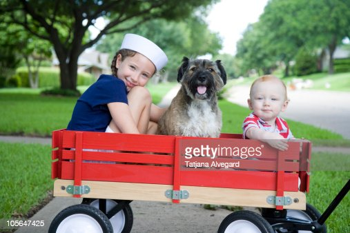 Little Red Wagon Stock Photo Getty Images