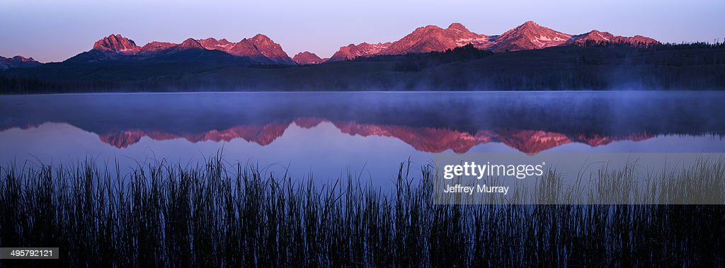 Little Redfish Lake at sunrise located in the heart of the Sawtooth National Recreation Area in central Idaho.