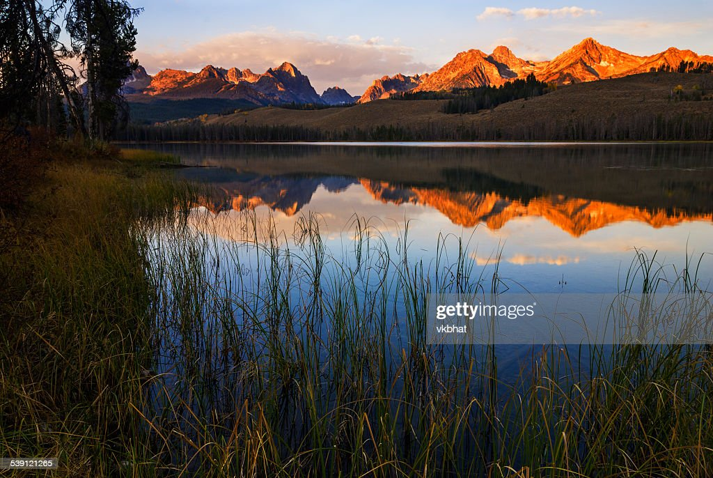 Little Redfish Lake Sunrise Stanley Idaho